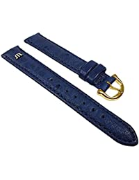 Maurice Lacroix Replacement Band Watch Band Ostrich Leather Strap blue 22628G, width:17mm
