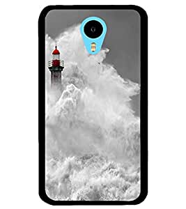 ColourCraft Beautiful Water Waves Design Back Case Cover for MEIZU M1 NOTE
