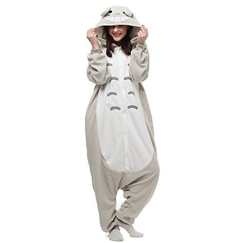 Erwachsene Monsters Kostüm Mike Inc Für - VU Roul Herren Erwachsene Kleidung Kigurumi Kostüm Schlafanzug Einteiler S Gr. X-Large, Totoro