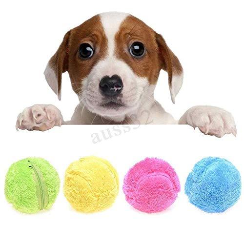 leegoal Elektrischer Hundespielzeug, ungiftig, magischer Rollball, Hundespielzeug, Haustiere, Rollball, um Ihre Katze/Hunde interessiert und den Boden sauber zu halten, 13,3 cm