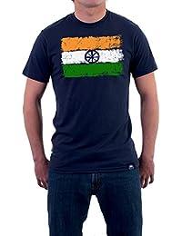 "Tricolor Nation India Pride T-shirt ""Brushed Tricolor"" For Men"