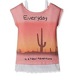 Cherokee Girls' T-Shirt (271262926_PEACH_03Y_HS)