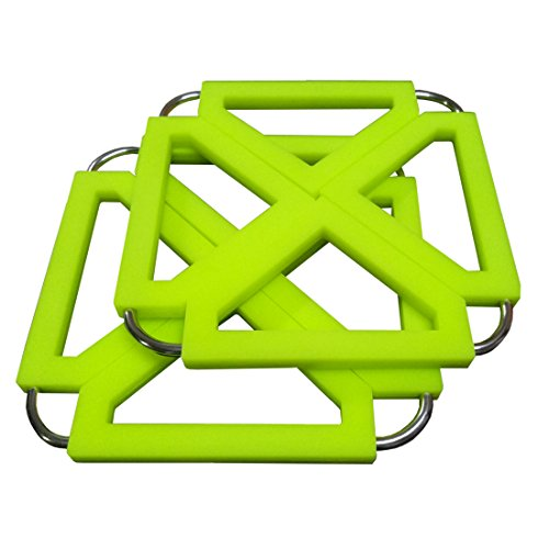 Lagfly Pack of 2 Transformable Trivet Mat Hot Pot Dining Table Coaster - Non Slip