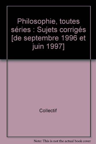 Annales 1998, philosophie, bac, numéro 35, corrigés