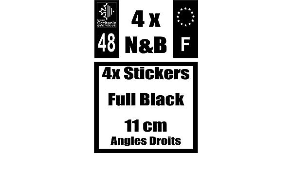 Safirmes Sticker Full Black 11 Cm X 4 5 Ecken Logo F Logo Schwarz Und Weiß Nr 48 Auto
