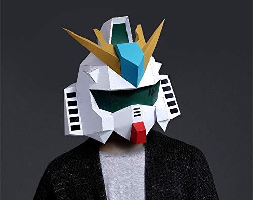 Party Mask Halloween Diy Paper Masks Cosplay Mascara Masquerade Gundam Model Optimus Prime Masque Creative Handwork Funny Masker pro (Erwachsene Prime Halloween-kostüm Optimus Für)