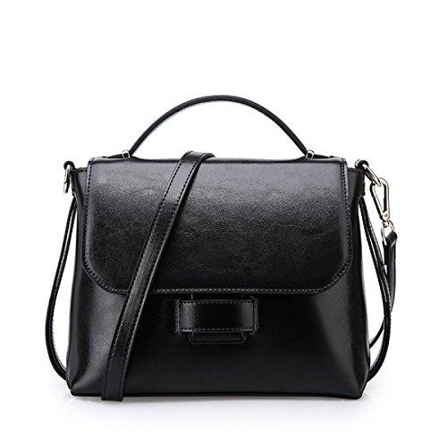 Handtaschen Damen-Tasche Damen-Tasche Mädchen Party Retro Damen Mode Kollokation Handtasche Umhängetasche Kuriertasche Ledertasche Black