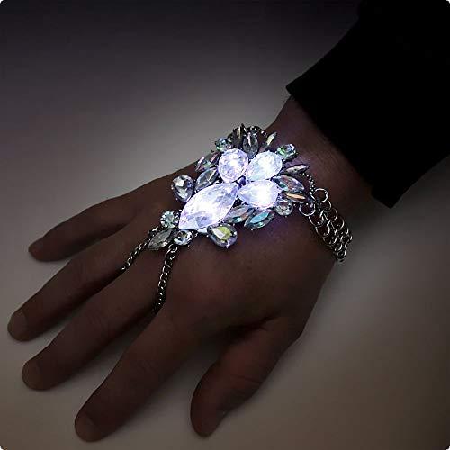 LED-Handschmuck Handkette für Handrücken Boolywood Bauchtanz Schmuck (Bollywood Nacht Kostüm)