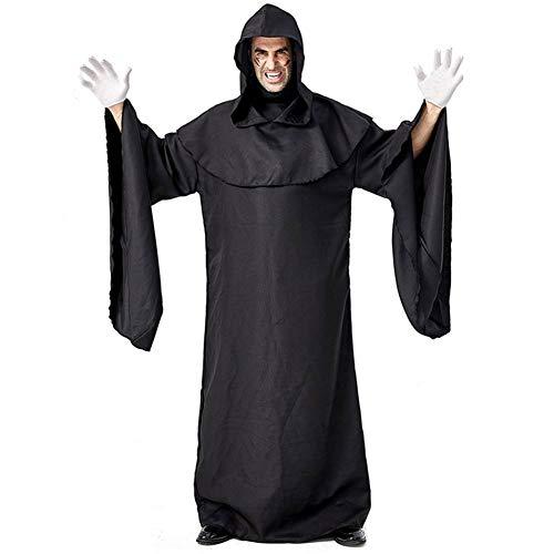 Männlich Dämon Kostüm - GUAN Halloween-Karnevalsshow-Dunkles schlechtes Schwarz-einfaches Roben-Dämonen-Gefolge-Stadiums-Kostüm