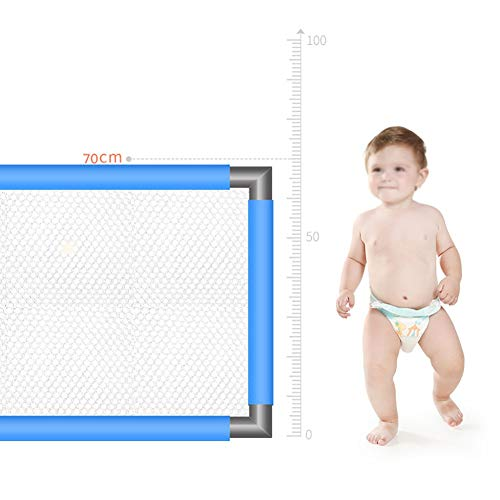Playpen Portable Baby with Mat, Large Toddler Play Pen/Children's Game Fence with Door, Blue (120x190x70cm)  ERRU