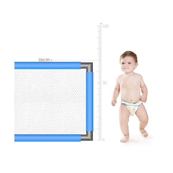 Playpen Baby with Mat, Extra Tall 70cm Portable Security Fence for Infants Toddler - Blue (Can Be Used on The Bed) (Size : 150x190cm) Playpen  5