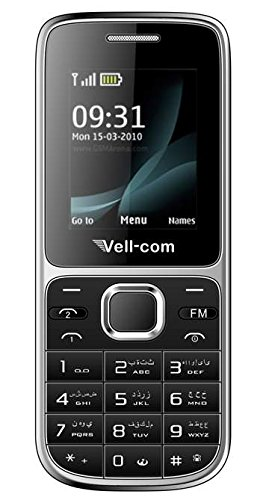 Surya Vell com Heavy Battery Dual Sim Mobile Phone in Black Colour