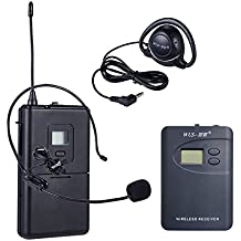 ZLWUS 800R Wireless Tour Guide System , UHF794~806MHz Digital AudioGuias y AudioGu¨ªas(2pc Transmisors + 30pc Auricular)Para Ense?anza Visiting and Conferencia(Gris)
