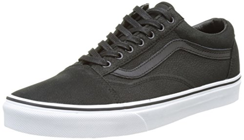 Vans Old Skool, Scarpe da Ginnastica Basse Unisex - Adulto, Nero (Premium Leather), 39 EU