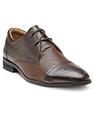 Hats Off Accessories Derby With Brogue On Toe