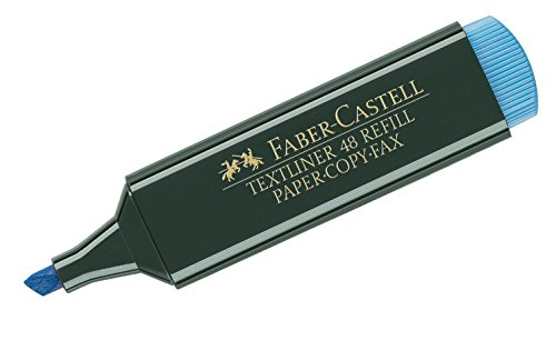 Faber-Castell 48-44, Evidenziatore Textliner, colore blu, 1 pezzo