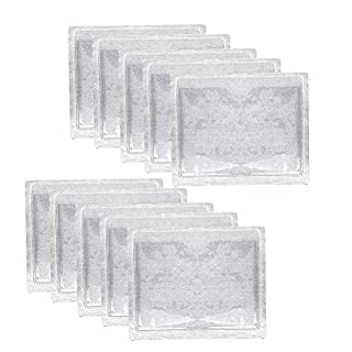 kuou 10 Pack Parking Permit Holder, PVC Windscreen Parking Discs, Self Adhesive Clear Ticket Note Holder