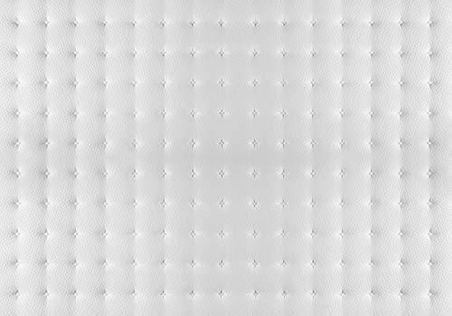 Fototapete Quilt-Matratze Weiss Stoff Muster XL 350 x 245 cm - 7 Teile Vlies Tapete Wandtapete - Moderne Vliestapete - Wandbilder - Design Wanddeko - Wand Dekoration wandmotiv24
