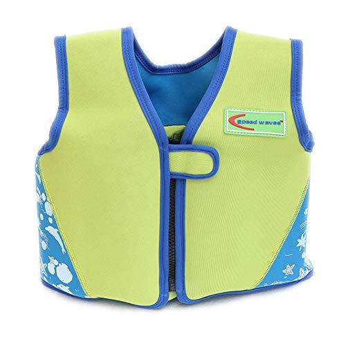Ruiuzi Kinder Schwimmweste von 2-6 Jahre, Schwimmhilfen für Kleinkinder zum Lernen Schwimmen für Jungen und Mädchen (Grün, L(18-23kg Height 110-125cm))
