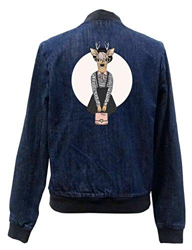 Fashion Deer Jeans Bomberjacke Girls Certified Freak-XS