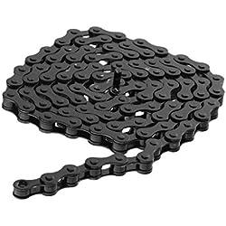 SGerste Cadena de bicicleta de alta resistencia para bicicleta, color negro