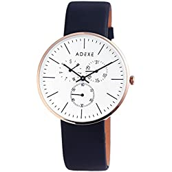 Adexe Men's Watch They Multi Function Leather 1886B 01