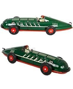 UN JEU DES JOUETS - Jouet mécanique voiture de course Spirale collection Schylling jouet en tôle