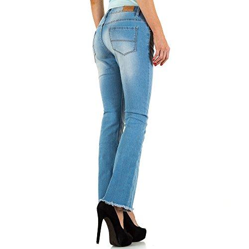 Used Look Bootcut Jeans Für Damen bei Ital-Design Blau