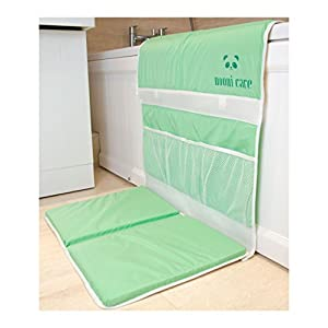 Nooni Care Bath Kneeler and Elbow Rest, Baby Bath Tub Kneeling Cushion Mat for Safety, Comfort and Bath Toy Storage | Waterproof | Non Slip | Hypoallergenic Padding