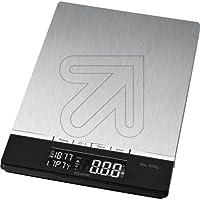 Bomann KW 1421 CB - Báscula de cocina (LCD, Negro, Acero inoxidable, 160 x 230 x 18 mm, 18 mm, AAA, Acero inoxidable) de Bomann