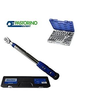 Clé dynamométrique 40–200+ cassette douilles PaSTORINO expert 38pZ.
