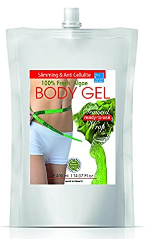 Inch-loss Body Seaweed Wrap in Gel 400ml ● Seaweed Gel Ready-to-Use for Face, Body and Bath ●Gel Fango d'Alga Anti Cellulite ● Inch-Loss Body Wrap Contour Treatment ● Algae Facial Mask (oily skin, anti acne, psoriasis and eczema)● Helpful in treating Dermatiitis and Eczema. ● Detox, Slimming and Remineralizing Body Wrap ● Tummy Waist ● Fine and nice smelling GEL, ● SPA and In-Home treatment by bleumarine Bretania