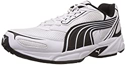 Puma Mens Aron DP White and Black Mesh Running Shoes - 10 UK