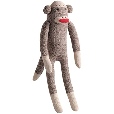 Multipet's Plush Dogs Toy, Sock Monkey Small