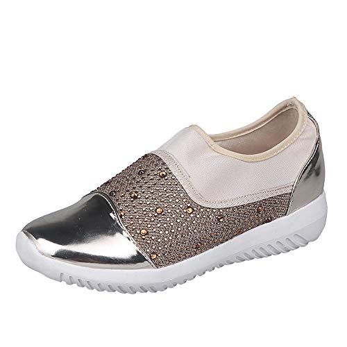 Dtuta Baskets Femmes, Chaussures D'ExtéRieur En Tissu Extensible Pour Femmes, Chaussures De Sport à Semelles éPaisses, Chaussures De Sport, Baskets