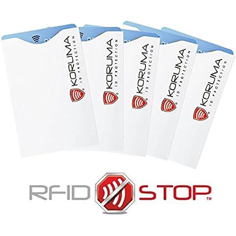 Koruma-ID-Protection - Porta carte di credito e di debito paypass con antifurto ID RFID Blocking, confezione da 5