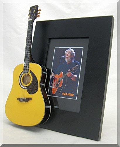 BOB SEGER Miniatur Gitarre Foto Rahmen Collectible