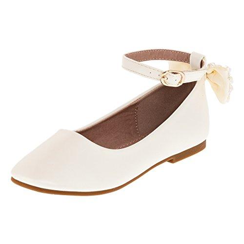 Dorémi Festliche Kinder Mädchen Ballerinas Schuhe mit Zierblume M420cr Creme 34