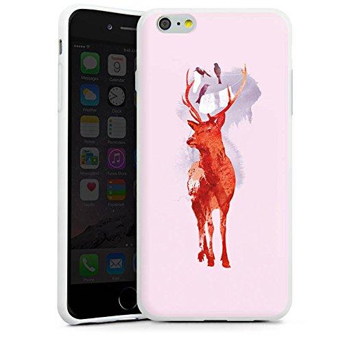 Apple iPhone X Silikon Hülle Case Schutzhülle Hirsch Art Rot Silikon Case weiß