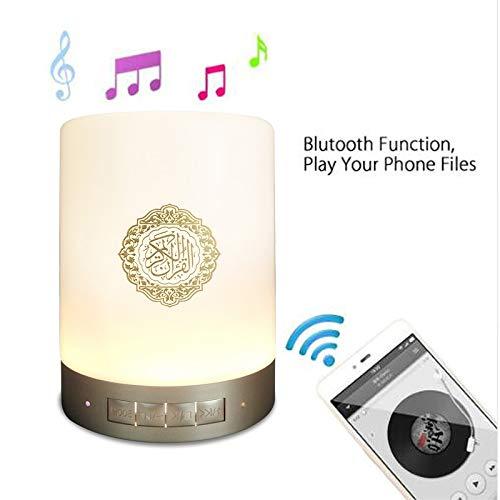 Lautsprecher Buntes LED Licht Quran Koran Reciter Moslemischer Lautsprecher Unterstützung MP3 FM TF Karte Radio Fernbedienung ()