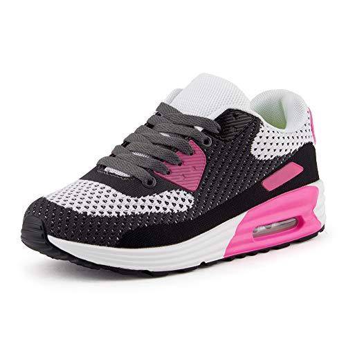 Air Max Tennis Shoes (Fusskleidung Herren Damen Sportschuhe Textilschuhe Strick Sneaker Turnschuhe Gym Runners Schuhe Pink EU 41)