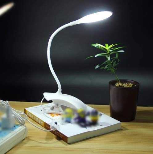 Shoppers Stop Schreibtischlampe USB LED Tischlampe 14 LED Tischlampe mit Clip Bett Lesebuch Nachtlicht LED Schreibtischlampe Tisch Touch 3 Modi, 1 Stück