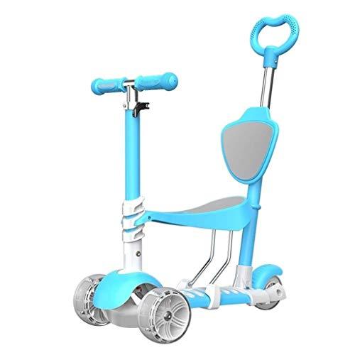 Breay1986 Kinder Roller faltbar/Verstellbarer Sitz, Mädchen und Jungen Tretroller - Bester Kinder Roller für Babys und Kleinkinder ab 2 Jahren (Color : Blue)