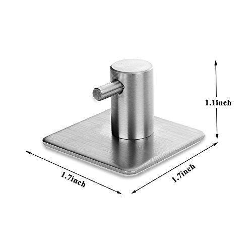 Ganchos de Acero Inoxidable 4 pieces Gancho Para la Pared de la Cocina de Baño Percha Autoadhesivo Ropa Toalla Durable