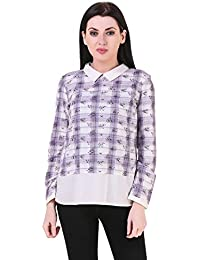Mind The Gap Yarn Dyed Cotton Formal Top
