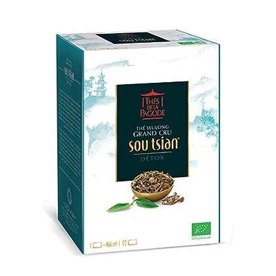 Thé Sou tsian Bio par Thés de La pagode?Thé wulong - Boîte de 90 infusettes?Thé oolong Bio?Détox drainage et élimination