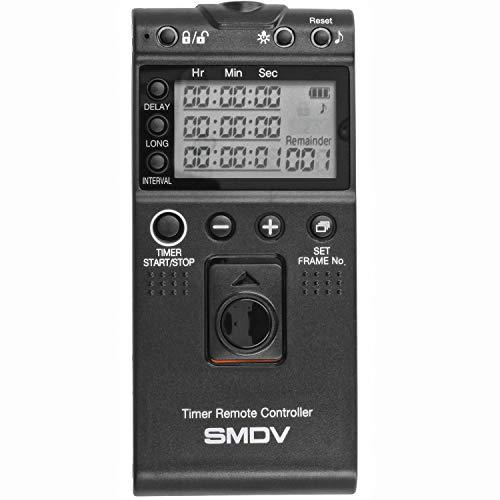 Impulsfoto SMDV Timer Fernauslöser, Kompatibel mit Canon, Fujifilm, Olympus, Samsung, Sigma, Pentax, Contax, Hasselblad Kameras, Kabelauslöser m. Timer, Intervallfunktion - Ersatz für RS-60E3 - T805