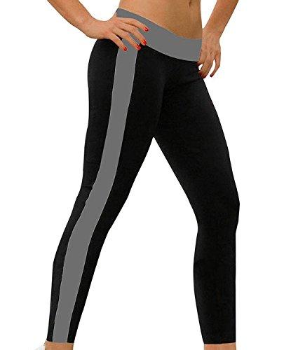 Frauen athletische Hohe Taille Baumwolle training Strumpfhose Capris Yoga Hose und Pilates Hose - ABUSA A00138 elastisch weich und bequeme Lauf-Leggings, abnehmende Fitness- und Sporthose (Taille Capri-elastische Leggings)