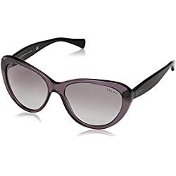 Ralph - Gafas de sol Ojos de gato RA 5189 para mujer, 138311, Gray/Satin Black, Gray Grad