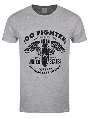Foo fighters t-shirt stencil da uomo in grigio